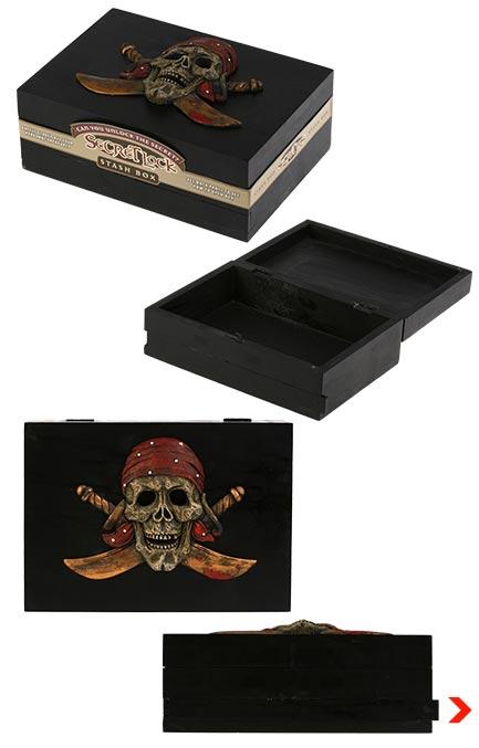 acheter boite en bois pirate