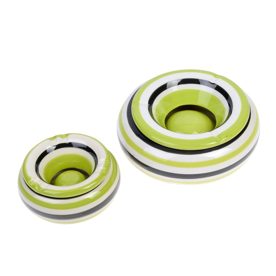 cendrier céramique vert