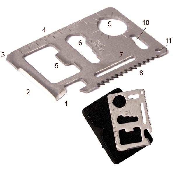 Carte métal multifonction