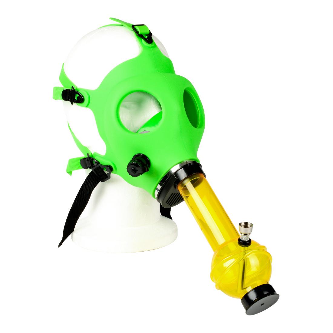 pipe a eau masque toxic green