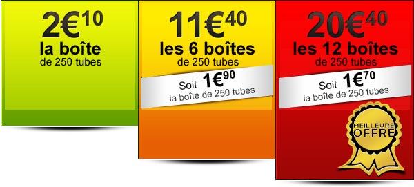 achat tubes à cigarettes pas cher