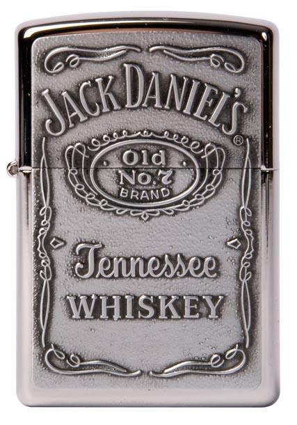 Zippo Jack daniel's label silver