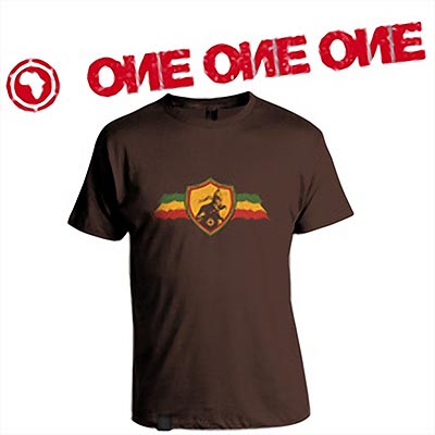 T-SHIRT LION OF JUDAH CHOCOLAT