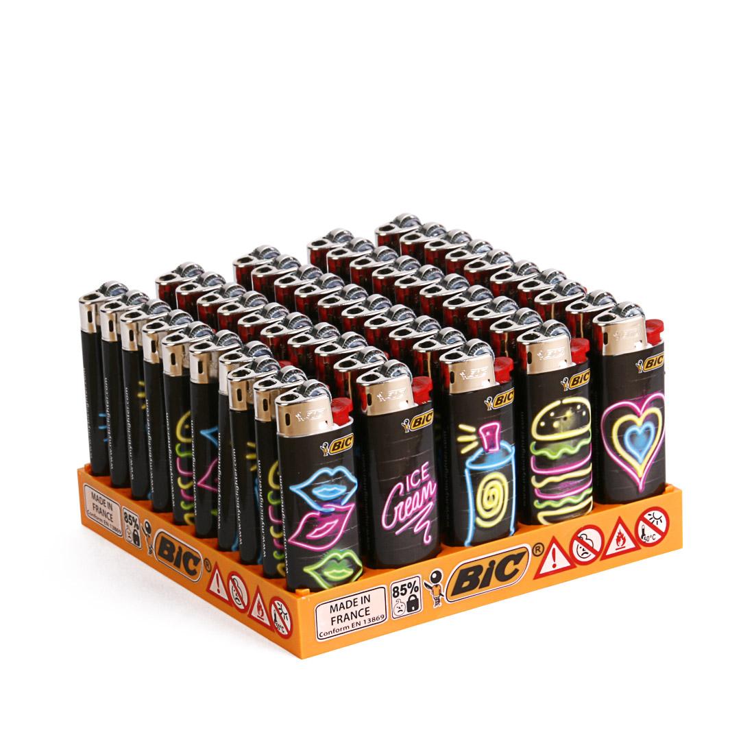 briquets bic mini neon