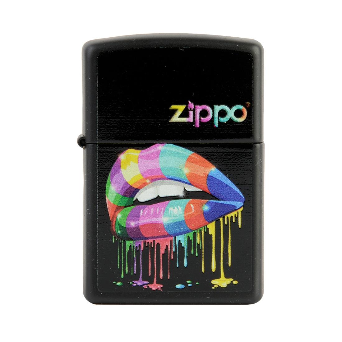 zippo rainbow lips