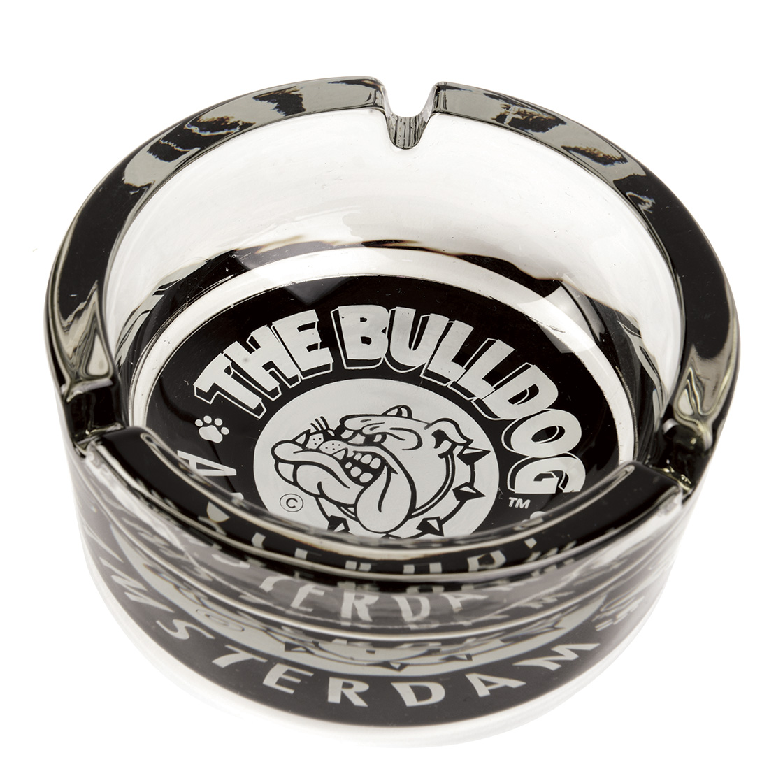cendrier en verre bulldog