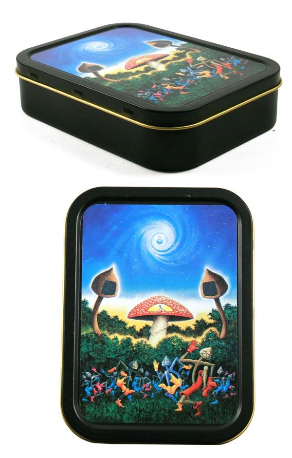 boite champignon de rangement boites en m tal. Black Bedroom Furniture Sets. Home Design Ideas