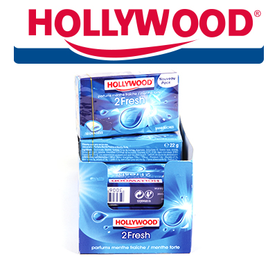 CHEWING GUM HOLLYWOOD 2FRESH MENTHE FRAICHE X16