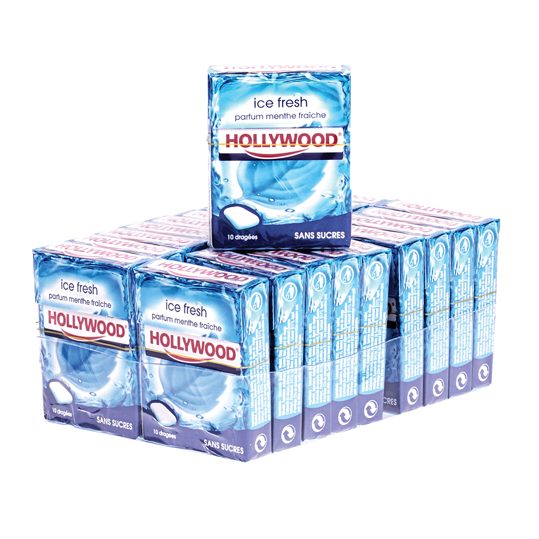CHEWING GUM HOLLYWOOD ICE FRESH MENTHE X20