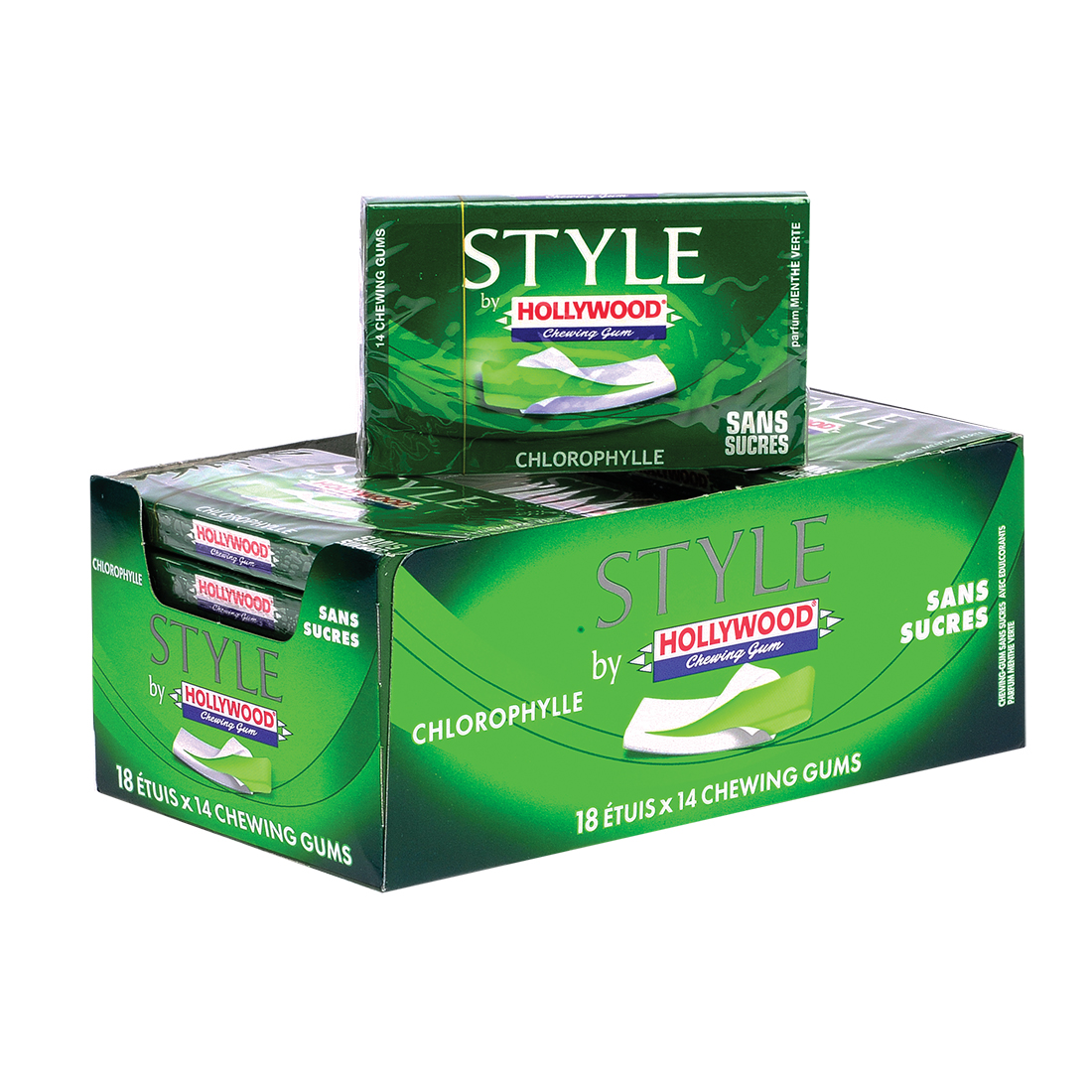 CHEWING GUM HOLLYWOOD STYLE CHLOROPHYLLE
