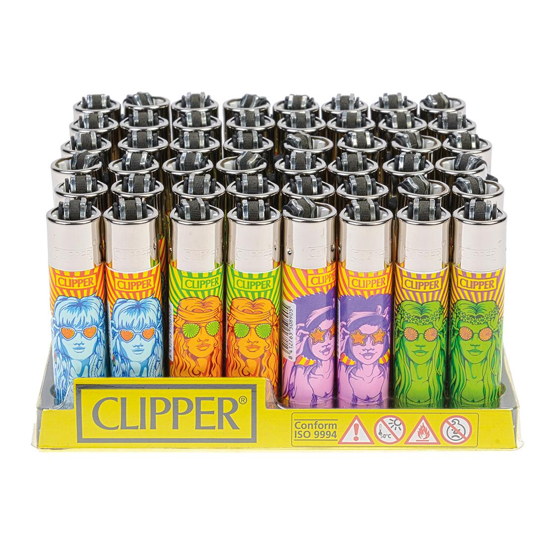 briquet Clipper hippie girl