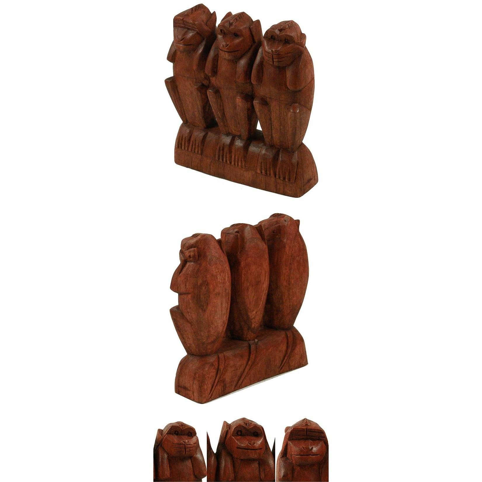 statuette les 3 singes de la sagesse acheter decoration maison statue singe statue. Black Bedroom Furniture Sets. Home Design Ideas