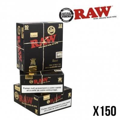 .FEUILLES A ROULER RAW BLACK X150