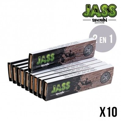 .FEUILLE A ROULER JASS SLIM + TIPS BROWN X10