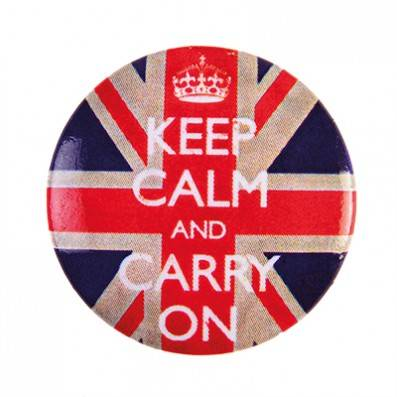 BADGE KEEP CALM UNION JACK