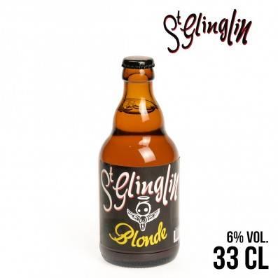 BIERE ST GLINGLIN BLONDE 33CL