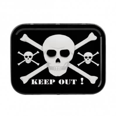 BOITE METAL KEEP OUT