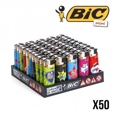 BRIQUET BIC MINI ELECTRONIQUE HERO X50