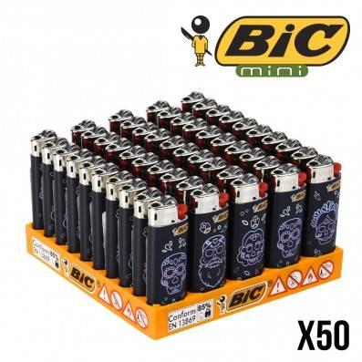 BRIQUET BIC MINI MEXICAN SKULLS X50