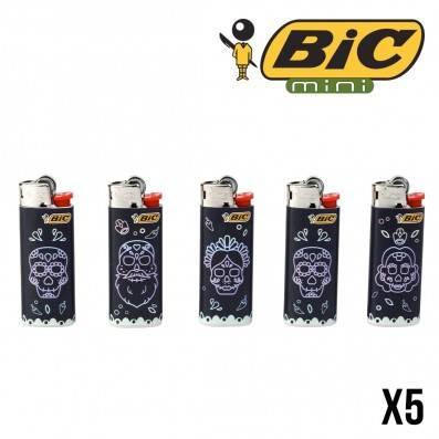 BRIQUET BIC MINI MEXICAN SKULLS X5