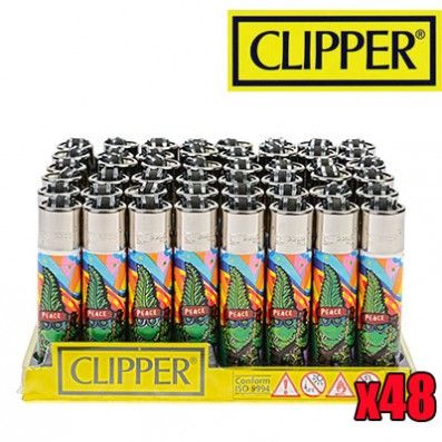 briquet clipper cannabuds peace