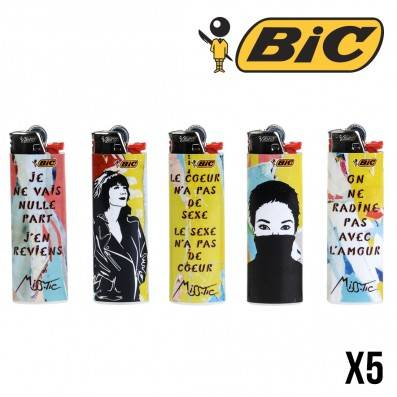 BRIQUETS BIC MISS TIC COLOR X5