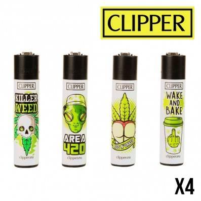 CLIPPER LEAF SLOGAN X4