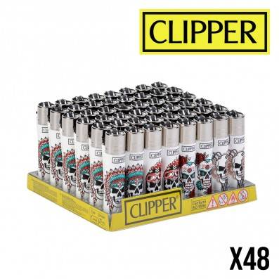 CLIPPER WHITE SKULLS X48