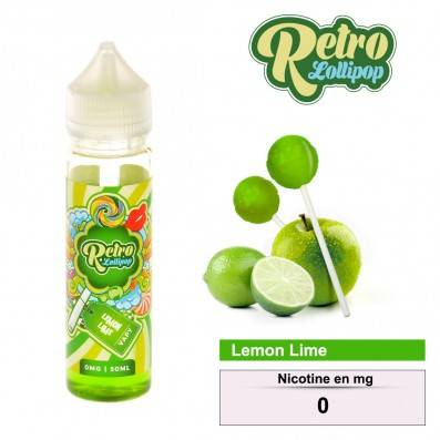 E-LIQUIDE RETRO LOLLIPOP LEMON LIME