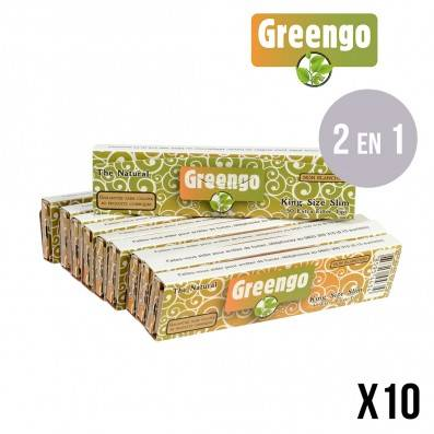 FEUILLES A ROULER NON BLANCHIES GREENGO SLIM + TIPS X10