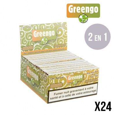FEUILLES A ROULER NON BLANCHIES GREENGO SLIM + TIPS X24