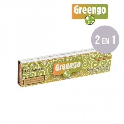 FEUILLES A ROULER NON BLANCHIES GREENGO SLIM + TIPS