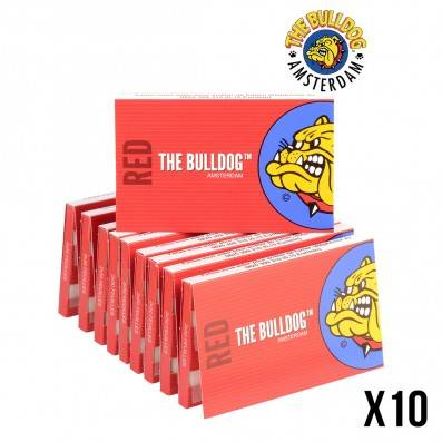 FEUILLES A ROULER THE BULLDOG REGULAR DOUBLE RED X10