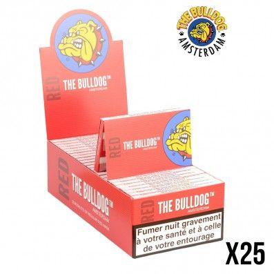 FEUILLES A ROULER THE BULLDOG REGULAR DOUBLE RED X25