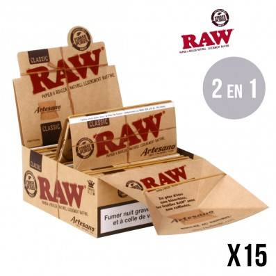 .FEUILLES RAW ARTESANO X15
