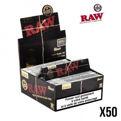 .FEUILLES A ROULER RAW BLACK X50