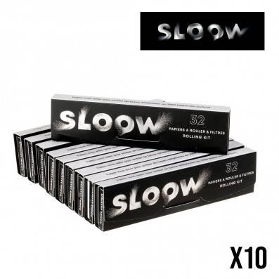 FEUILLES A ROULER SLOOW SLIM 2 EN 1 PAR 10