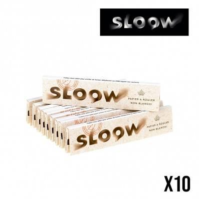 FEUILLES A ROULER SLOOW SLIM NON BLANCHIES PAR 10
