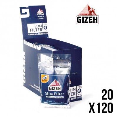 FILTRE GIZEH CHARBON 6MM X20
