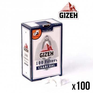 FILTRE GIZEH CHARBON 8MM BOITE