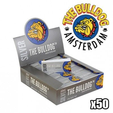 FILTRES CARTON THE BULLDOG LARGE SILVER PAR 50