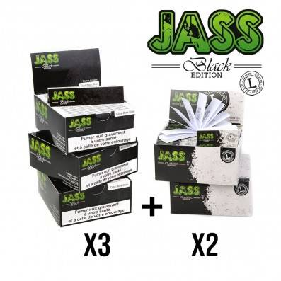 .FEUILLE JASS PAPER BLACK + TIPS TAILLE L