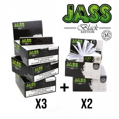 .FEUILLE JASS PAPER BLACK + TIPS TAILLE M