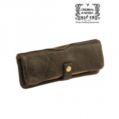 KAVATZA Mini pouch cuir marron
