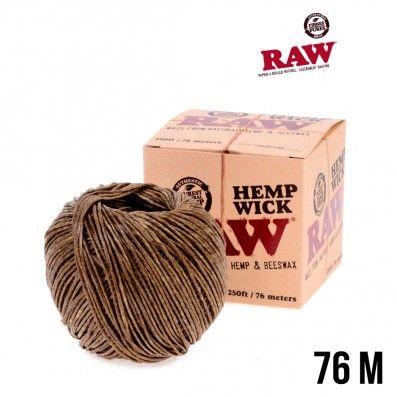 MECHE RAW HEMP WICK BOBINE 76M