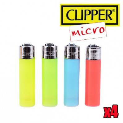 MICRO CLIPPER COLOR TRANSPARENT X4