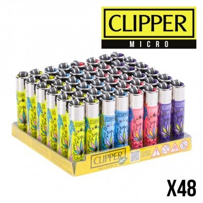 MICRO CLIPPER FLUO LEAF X48