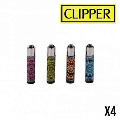 MICRO CLIPPER MANDALA PRINT X4