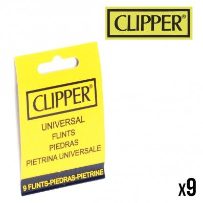 9 PIERRES POUR BRIQUET CLASSIQUE CLIPPER