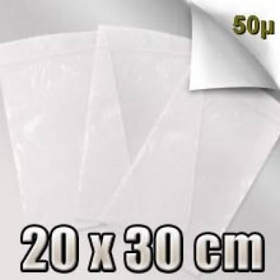 SACHET ZIP 50 MICRONS  20x30 CM
